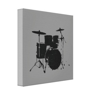 black drums gallery wrapped canvas