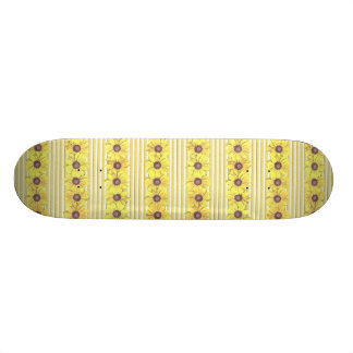 Black Eyed Susan Stripes Skateboard