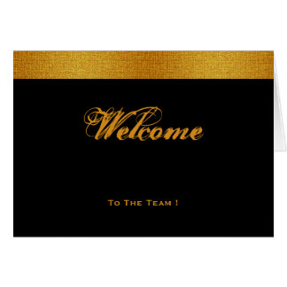 Black & Gold Badge Band Welcome Card