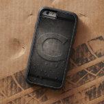 Black Metal C Monogram Iphone Case