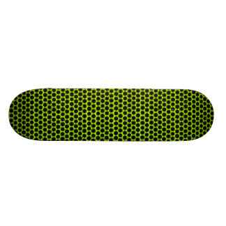 Black on Lime Flower Power Daisies Skate Boards