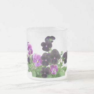 Black Violas Frosty Mugs