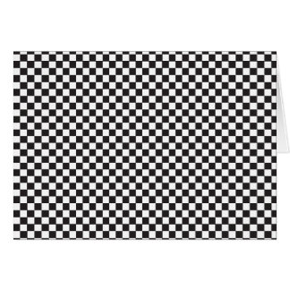 Black & White checkerboard pattern Greeting Card