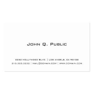 Blanc simple professionnel carte de visite standard