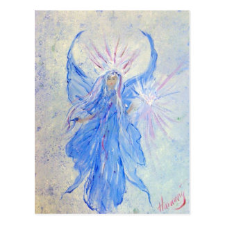 Blessed Blue Fairy Angel of Home Postcard