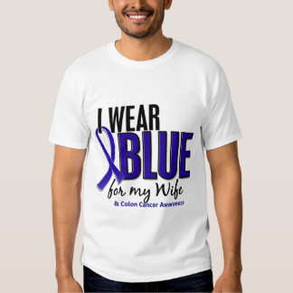 Bleu d'usage du cancer du colon I pour mon épouse T Shirts
