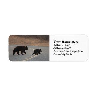 BLHI Black Bears on Highway Return Address Label