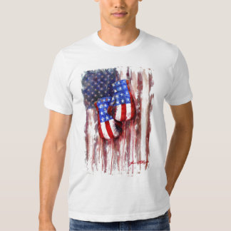 Blood, White, and Blue (American Boxing Tradition) Tee Shirt