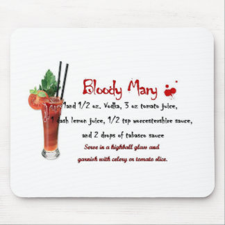 Bloody Mary Drink Recipe Mouse Pad