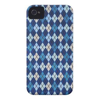 blue argyle Blackberry bold case