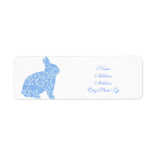 Blue Bunny Return Address Labels