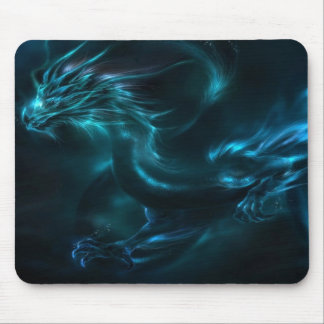 blue dragon abstract mouse pad