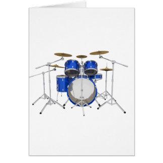 Blue Drum Kit: Greeting Card