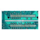 Blue Green Circuit Board - Electronics Photography Customized Photo Card