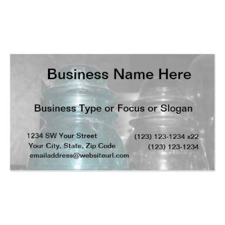 Blue Insulators photo part colored Business Card