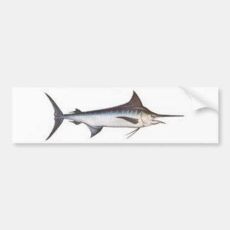 Blue Marlin Bumper Sticker