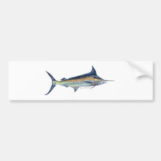 blue marlin fish painting bumper sticker