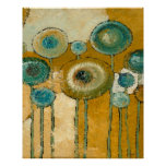 Blue Poppies #2 Abstract Art Print