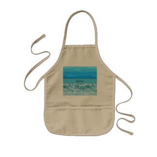 Blue Sands & Glitter Kids Apron