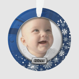 Blue/Silver Frame Baby's 1st Christmas