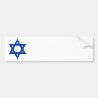 Blue Star of David Bumper Sticker