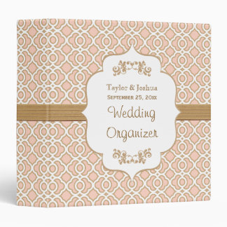 Blush Pink and Gold Moroccan Wedding Organizer Binders