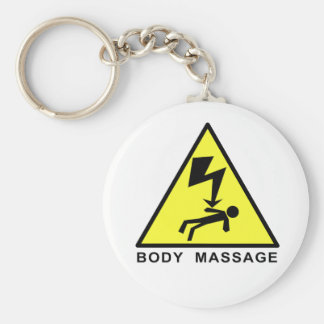 Body Massage Sign Keychain