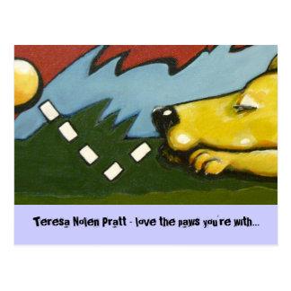 bonk, Teresa Nolen Pratt - love the paws you're... Postcard