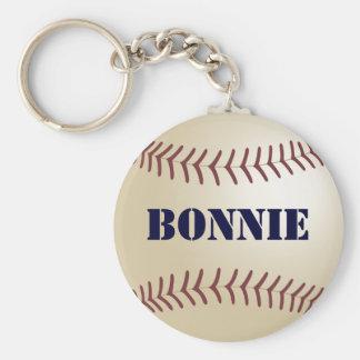 Bonnie Baseball Keychain by 369MyName