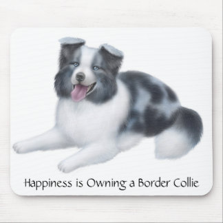 Border Collie Blue Merle Mousepad