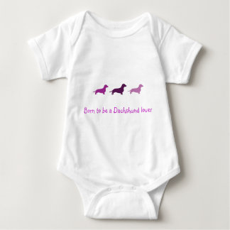 Born to love Dachshunds-Purple Tshirt