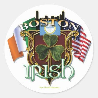 Boston Irish Pride Round Sticker