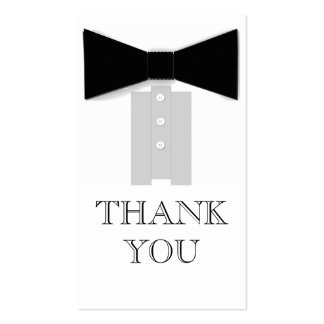 Bow Tie Thank You Cards Business Card