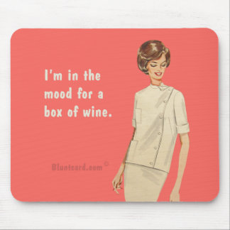 box of wine mouse pad