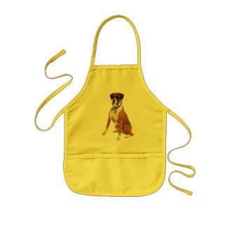 BOXER DOG KIDS Apron