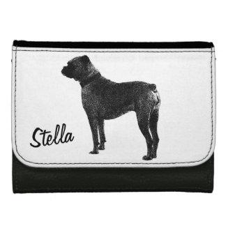 Boxer dog wallet design | Personalizable pet name.