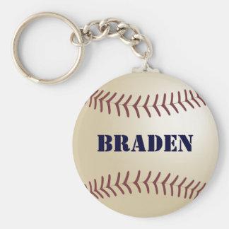 Braden Baseball Keychain by 369MyName