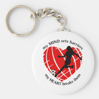 Breaking Barriers Lady Soccer Keychain