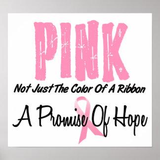 Breast Cancer Pink Ribbon Symbol of Hope Poster