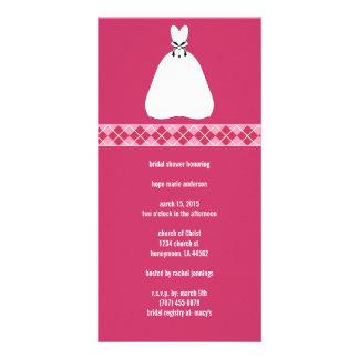 Bridal Shower Argyle Photo Cards
