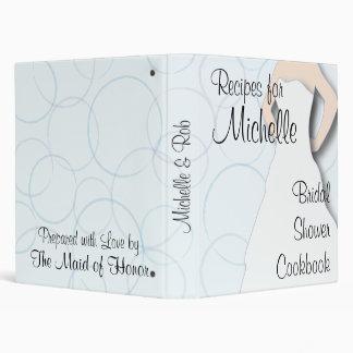 Bridal Shower Cookbook - Circles Vinyl Binder