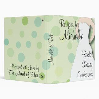 Bridal Shower Cookbook - Greens Vinyl Binders