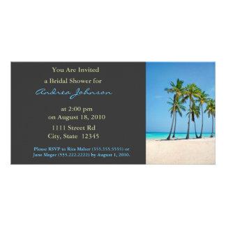 Bridal Shower Invite Photo Card Template