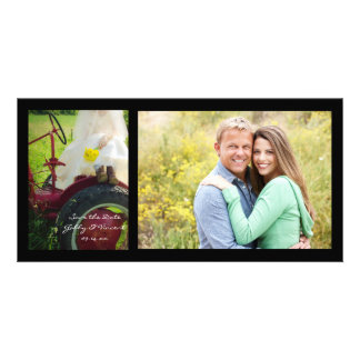 Bride on Tractor Country Wedding Save the Date Photo Cards