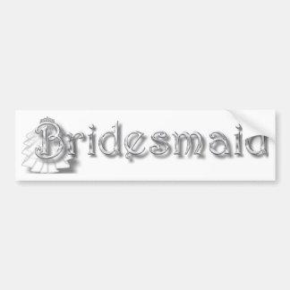♥ Bridesmaid  ♥Fun for Bachlorette Party, Shower♥ Bumper Sticker