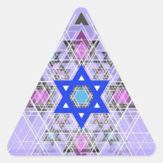 Bright Blue Star. Triangle Sticker
