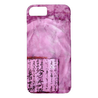 Bright Purple Distressed Asian Script Watercolor iPhone 7 Case