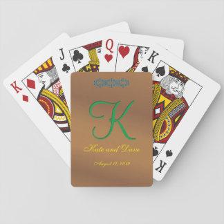 Bronze Pecan 3d Monogram Poker Deck