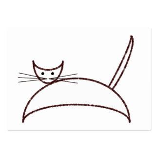 Brown cat business card