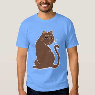 Brown Cat with Yellow Eyes Men's T-Shirt